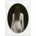 "Back to Front, 2013. Gum Bichromate with watercolor and gouache. 14"" x 11"""