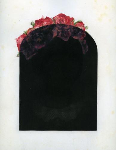 "Memoria, 2013. Gum Bichromate with watercolor and gouache. 14"" x 11"""