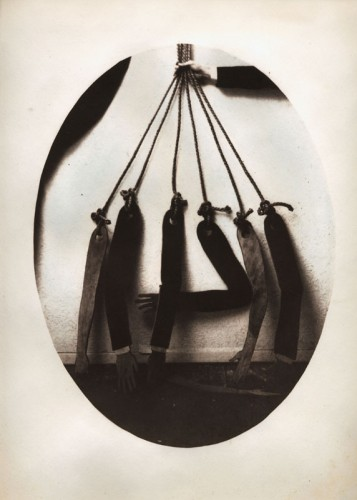 """Seven Arms, 2010. Salt print with watercolor. 14"""" x 11"""""""