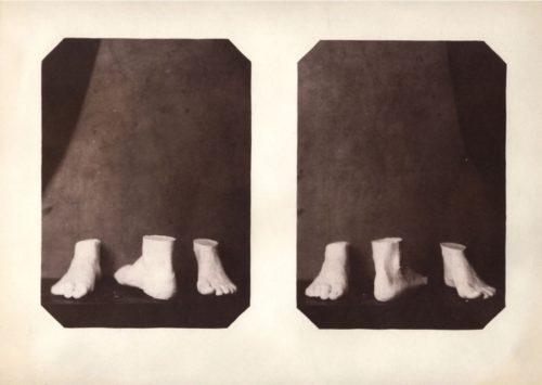 "Six Feet, 2010. Salt print. 14"" x 11"""