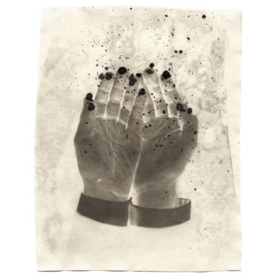 "Black Hands, 2002. Calotype negative with silver nitrate. 5"" x 4"""