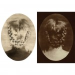 "Braid, 2002. Calotype negative with pencil, and salt print. 7"" x 5"" each"