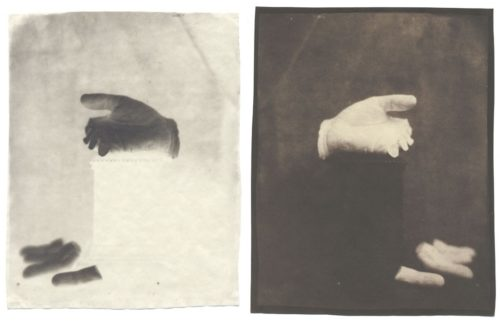 "Broken Fingers, 2004. Waxed Calotype negative, and salt print. 10"" x 8"" each"