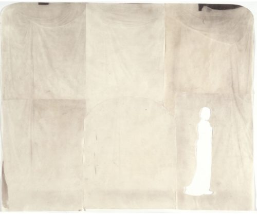 "The Large Studio, 2002. Six waxed calotype negatives, cut. 16"" x 19"" overall"