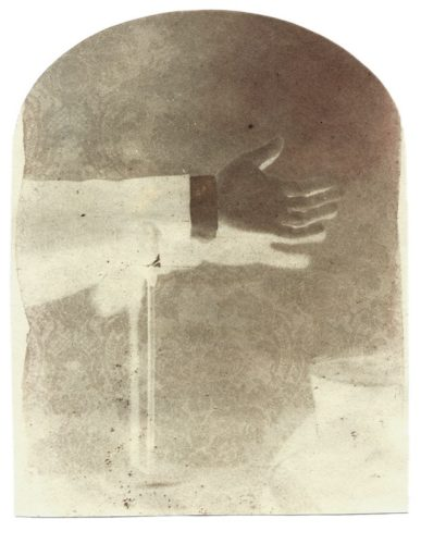 "A Small Gesture, 2001. Calotype negative. 5"" x 4"""