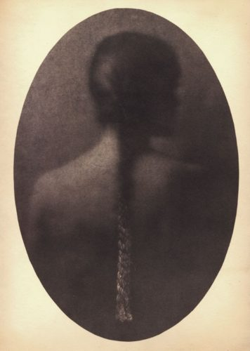 "Your Braid, 2006. Salt print. 14"" x 11"""