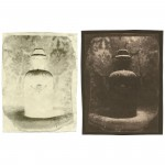 "Your Poison (Sleeping Potion), 2004. Waxed Calotype negative with pencil, and salt print. 5"" x 4"" each"