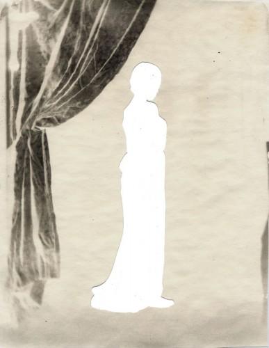 """The Small Studio, 2002. Cut calotype negative. 10"""" x 8"""""""