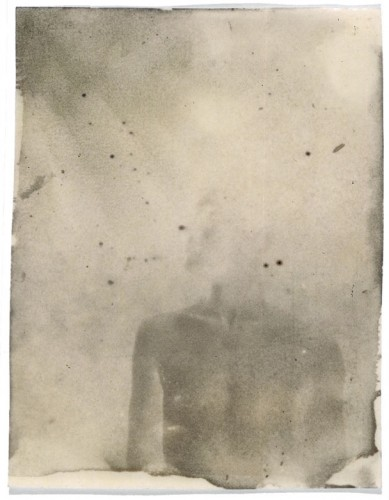 "First Photograph, 1999. Calotype negative with graphite. 5"" x 4"""