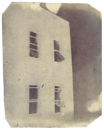 "First Exterior, 1998. Calotype negative. 5"" x 4"""