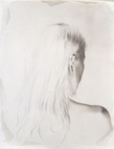 "Incomplete Portrait, 2000. Calotype negative with pencil. 10"" x 8"""